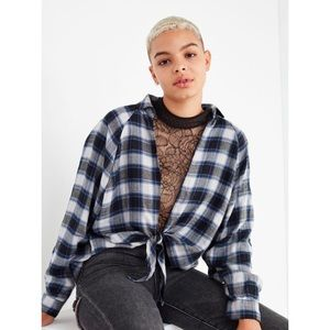 Urban Outfitters BDG Oversized Tie-Front Top